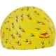 B31561 Шапочка для плавания с принтом ПУ (желтые)