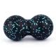 B34461 Мячик массажный двойной (черный) (ВПП)