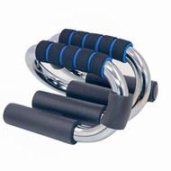 B34484 Упоры для отжиманий хром Универсальные (синий), 10019285, УПОРЫ