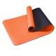 TPE-2T-1 Коврик для йоги 2-х слойный ТПЕ 183х61х0,6 см (оранжевый/черный) (B34506)