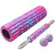B34512 Набор для йоги 45см Валик, Массажер, Мячик (розовый мультиколор) (YST-3)
