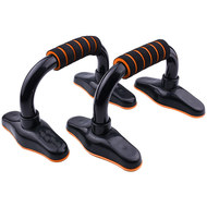 D34490 Упоры для отжимания с неопреновыми ручками металл (оранжевые) (56-924), 10019533, УПОРЫ