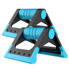 D34417 Упоры для отжимания складные Утюжок (голубой) (56-305)