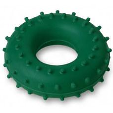 Эспандер кистевой Массажный, кольцо ЭРКМ - 20 кг (зеленый)