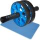 ABR-800-2 Ролик гимнастический 2-х рядный с TPR ручками (синий) (D34366)