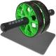 ABR-800-3 Ролик гимнастический 2-х рядный с TPR ручками (зеленый) (D34367)