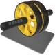 ABR-800-4 Ролик гимнастический 2-х рядный с TPR ручками (желтый) (D34368)