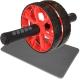 ABR-800-5 Ролик гимнастический 2-х рядный с неопреновыми ручками (красный) (D34369)