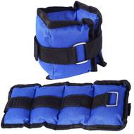 AW100-2 Утяжелители 2 кг (2х1,0кг) (нейлон) (синий) (D34459), 10019625, УТЯЖЕЛИТЕЛИ