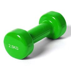 """B35017 Гантель виниловая """"York"""" 2.5 кг (зеленая)"""