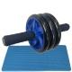 ABR-350-2 Ролик гимнастический 3-х рядный с неопреновыми ручками (синий) (E32439)
