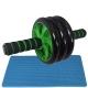 ABR-350-3 Ролик гимнастический 3-х рядный с неопреновыми ручками (зеленый) (E32439)