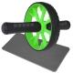 ABR-710-5 Ролик гимнастический 1-но рядный с TPR ручками (зеленый) (E32430)