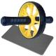 ABR-710-6 Ролик гимнастический 1-но рядный с TPR ручками (желтый) (E32429)
