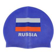 E29429-1 Шапочка для плавания силиконовая одноцветная (cиний), 10019705, Шапочки силиконовые