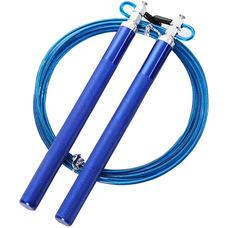 E32640 Скакалка скоростная алюминий 3,0 метра (синяя)