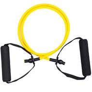 EST-120-A Эспандер трубка с ручками на растяжение упругость - 5кг. (желтый) (E32583), 10019803, Эспандеры Плечевые / Грудные