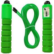 E32628-3 Скакалка со счетчиком 2.8 м. (зеленая), 10019885, СКАКАЛКИ