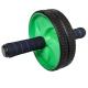 D34377 Ролик гимнастический 2-х рядный с неопреновыми ручками (зеленый) (56-120)