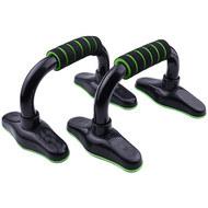 D34489 Упоры для отжимания с неопреновыми ручками металл (зеленые) (56-923), 10019900, УПОРЫ