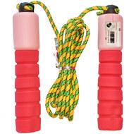 E32616-3 Скакалка со счетчиком 2.8 м. (красно/розовая), 10019904, СКАКАЛКИ