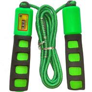E32627-2 Скакалка со счетчиком 2.8 м. (зеленая), 10019925, СКАКАЛКИ