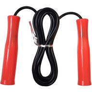 E32629-3 Скакалка ПВХ с пластиковыми ручками 2,8 м. (оранжевая) , 10019958, СКАКАЛКИ