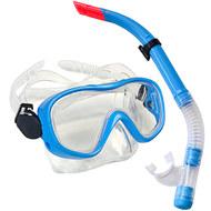 E33109-1 Набор для плавания юниорский маска+трубка (ПВХ) (синий) , 10019980, 11.ПЛЯЖНЫЙ ОТДЫХ