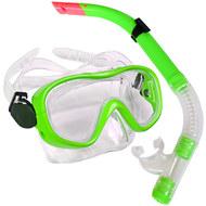 E33109-2 Набор для плавания маска+трубка (ПВХ) (зеленый) , 10019981, ЛАСТЫ, МАСКИ,ТРУБКИ