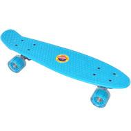 E33092 Скейтборд пластиковый 56x15cm со свет. колесами (голубой) (SK500), 10020091, 01.ЛЕТО