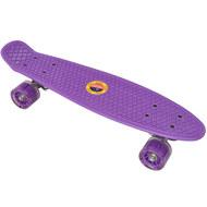E33093 Скейтборд пластиковый 56x15cm со свет. колесами (фиолетовый) (SK501), 10020092, 01.ЛЕТО