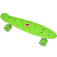 E33095 Скейтборд пластиковый 56x15cm со свет. колесами (зеленый) (SK503), 10020093, 01.ЛЕТО