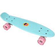 E33096 Скейтборд пластиковый 56x15cm со свет. колесами (мятный) (SK504), 10020094, 01.ЛЕТО