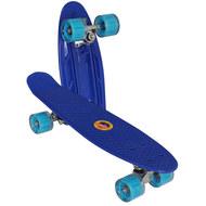 E33098 Скейтборд пластиковый 56x15cm со свет. колесами (синий) (SK506), 10020096, 01.ЛЕТО