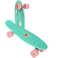 E33100 Скейтборд пластиковый 56x15cm со свет. колесами (аквамарин) (SK508), 10020097, 01.ЛЕТО