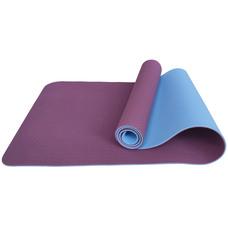 E33589 Коврик для йоги ТПЕ 183х61х0,6 см (фиолетово/голубой)