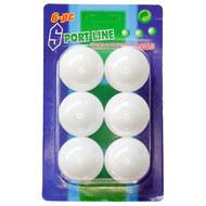 E33486 Шарики для для настольного тенниса упаковка (6 шт.) (белый), 10020122, Настольный теннис