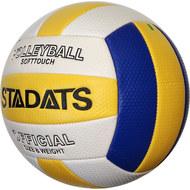E33489-1 Мяч волейбольный (синий/желтый), PVC 2.7, 290 гр, машинная сшивка, 10020176, ВОЛЕЙБОЛ