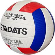 E33489-2 Мяч волейбольный (красный/синий), PVC 2.7, 290 гр, машинная сшивка, 10020177, Волейбольные мячи