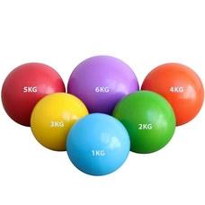 HKTB9011-6 Медбол 6кг., d-21см. (фиолетовый) (ПВХ/песок)