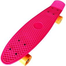 """D26021 Пенниборд пластиковый 22"""" - 56x15cm (розовый) (SK202)"""