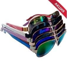 """D17 Очки солнцезащитные подростковые """"Kaifeng-Aviator"""" (цвета линз и оправ в Ассортименте)"""