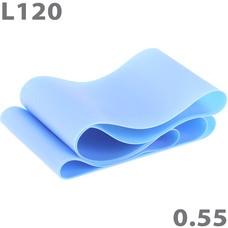 MTPR/L-120-55 Эспандер ТПЕ лента для аэробики 120 см х 15 см х 0,55 мм. (синий)