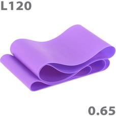 MTPR/L-120-65 Эспандер ТПЕ лента для аэробики 120 см х 15 см х 0,65 мм. (фиолетовый)