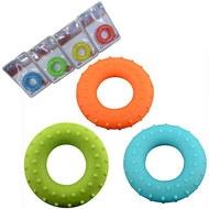 C28754 Эспандер кистевой кольцо 70lbs -31кг с массажным эффектом (оранжевый), 10015966, ЭСПАНДЕРЫ