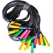 Скакалка 2,85 м. SKA-286 (полнотелый резиновый шнур d-6 мм., ручки пластик)