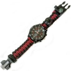 D26095-4 Часы туристические кварцевые 6в1 (бордовый)