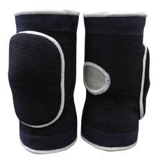 NK-404-L Наколенники волейбольные с дыркой (Черный/Белый) р. L