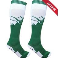 C33714 Гетры футбольные (зелено/белые) р.SR (взрослые) для экипировки спортивных команд, 10017157, ФУТБОЛ