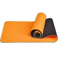 E33581 Коврик для йоги ТПЕ 183х61х0,6 см (оранжево/черный), 10017395, TPE/ТПЕ
